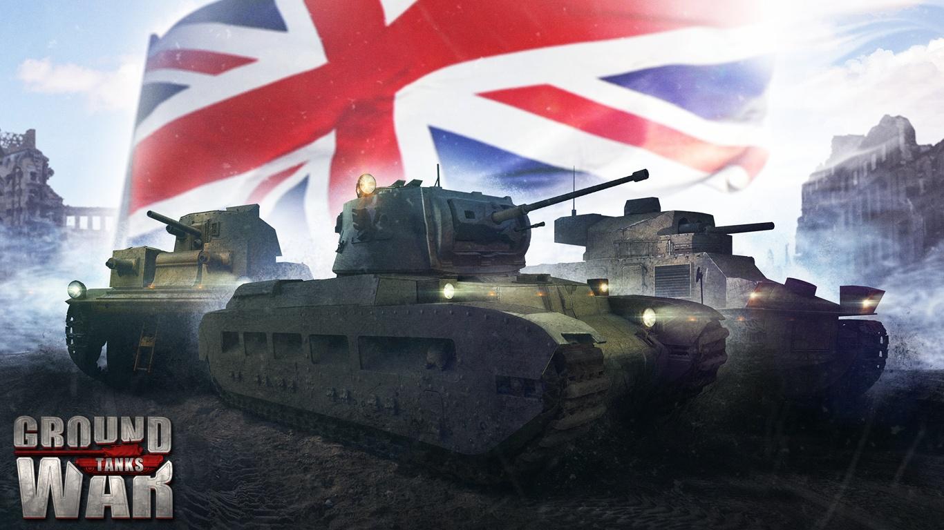 Обои на рабочий стол - первые танки Великобритании в Ground War: Tanks
